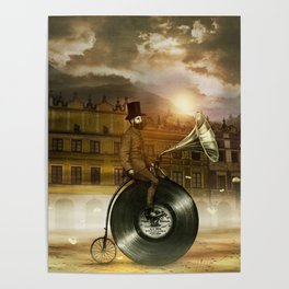 Music Man in the City, by Eric Fan and Viviana González Poster