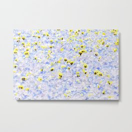 Pansy Field Floral Pattern IV Metal Print