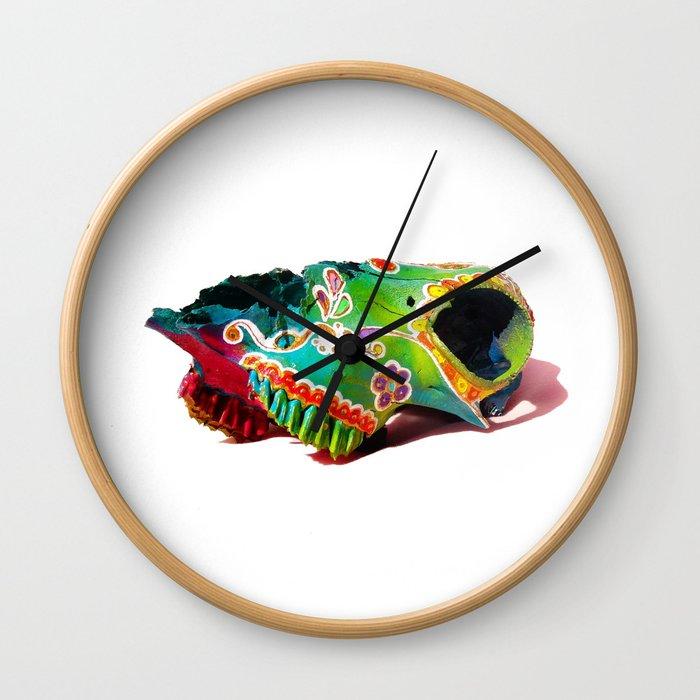 Colorsfull sheep skull Wall Clock