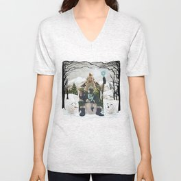 Witch and Wizard of Winter Unisex V-Neck