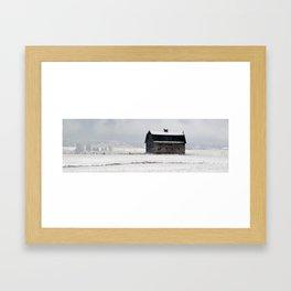 Barn in Winter Framed Art Print