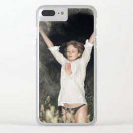 Cocaine Rain Clear iPhone Case