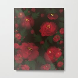Flowers Garden Abstract at Night  Metal Print