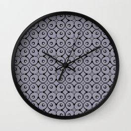 My Lucky Day Lilac Gray Wall Clock