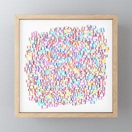 frames in 10 colors Framed Mini Art Print