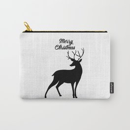 Merry Christmas - Reindeer Carry-All Pouch