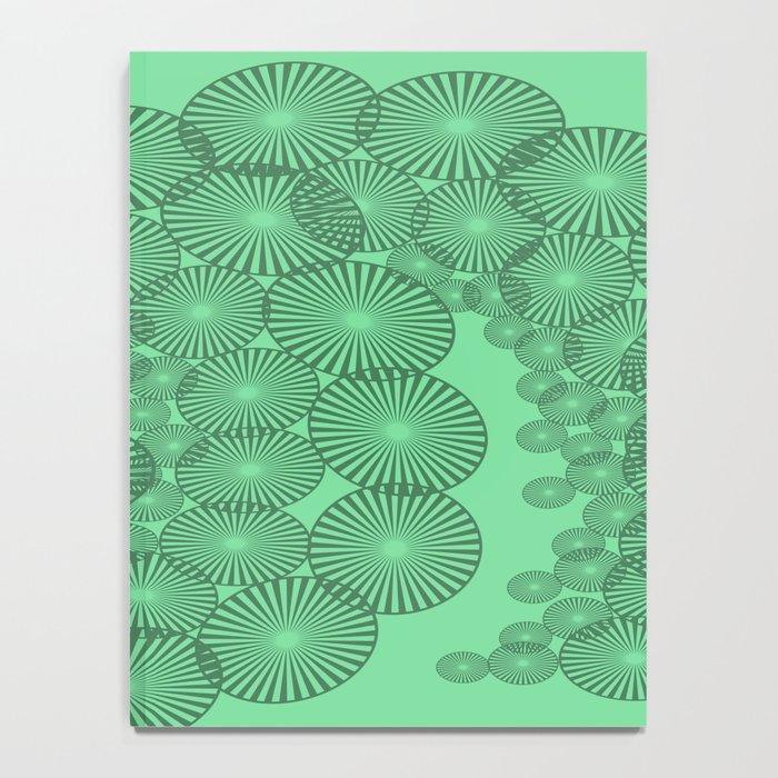 Green Circles Fractal Notebook