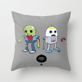 Zombie+Bot Throw Pillow