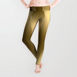 Modern Gold Abstract Zebra Stripes. Leggings