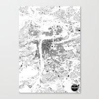 prague Canvas Prints featuring PRAGUE by Maps Factory