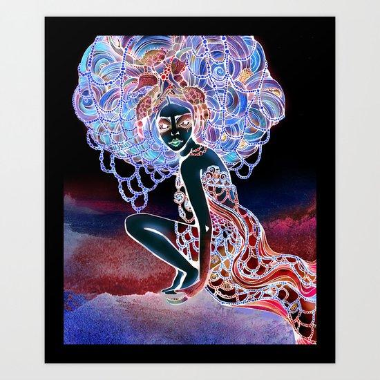 Astrology Illustration Series-Cancer Art Print