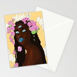 world (peach) Stationery Cards