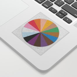 Rainbow Wheel of Inclusivity Sticker