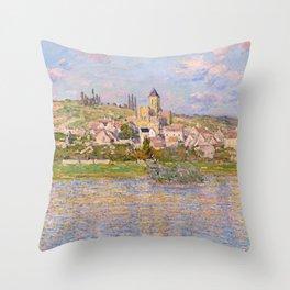 1879-Claude Monet-Vetheuil-60x81 Throw Pillow