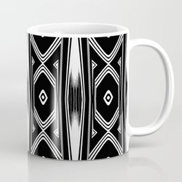 Tribal Black and White Textile Pattern Coffee Mug