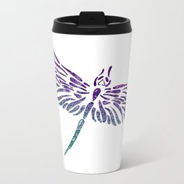 Shimmering Dragonfly Metal Travel Mug