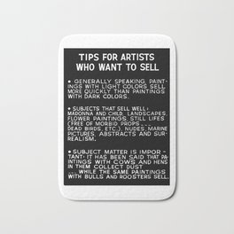 Tips For Artists in Black Bath Mat
