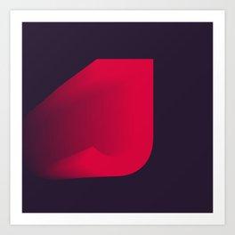 "The "" FADE "" Series - J Art Print"