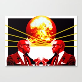 West God - End of the world - Digital Collage Canvas Print