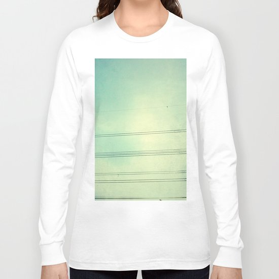 Horizontal Lines in the air Long Sleeve T-shirt