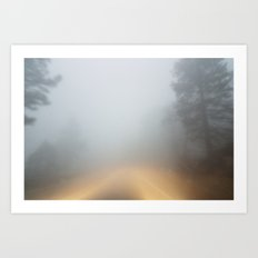 driving through mystery Art Print