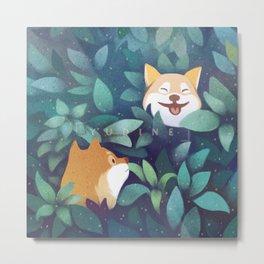 Leaf Doge Metal Print