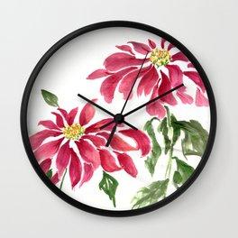 Poinsettias  Wall Clock