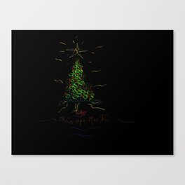The Grape-Mas Tree Canvas Print