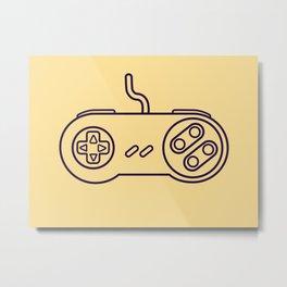 Super Nintendo Controller - Retro Style.  Metal Print