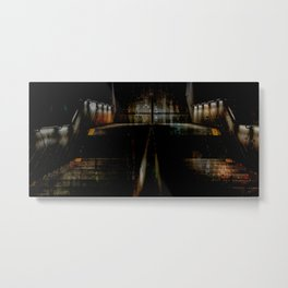 Subway entrance, downtown, Manhattan, New York (2020-5-GNY157) Metal Print