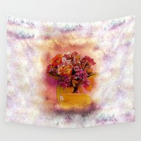 flora Wall Tapestries featuring Flora  by Music of the Heart