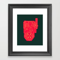 Circuit Drawing of a Proton Pack Framed Art Print