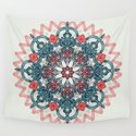Coral & Teal Tangle Medallion by micklyn