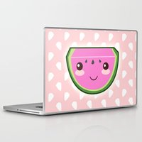 kawaii Laptop & iPad Skins featuring Kawaii Watermelon by Pati Designs & Photography