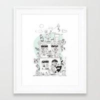 the neighbourhood Framed Art Prints featuring Neighbourhood by neicosta