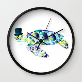 Funny turtle Wall Clock