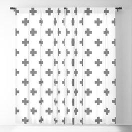 Light Grey Swiss Cross Pattern Blackout Curtain