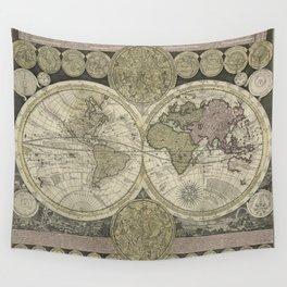 Terrestrial Planisphere Globe Wall Tapestry