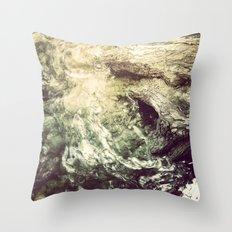 Sleeping under the River Throw Pillow