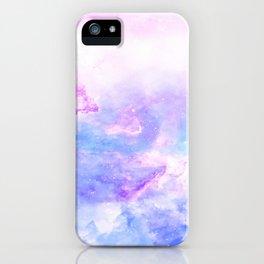 Lavander pink galaxy iPhone Case
