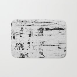 Distressed Grunge 102 in B&W INVERSE Bath Mat