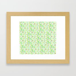 green eggs mosaic Framed Art Print