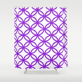 Interlocking Purple Shower Curtain