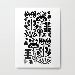 MCM Scandi Flowers White Metal Print