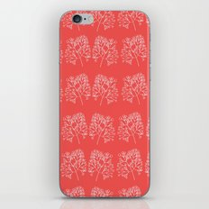 branches red graphic nordic minimal retro iPhone Skin