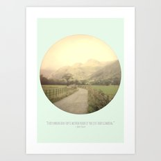 Mountain Tops Art Print