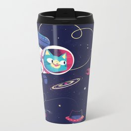 The Adventures of Space Cat Metal Travel Mug