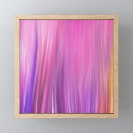 Modern pink violet lilac watercolor brushstrokes pattern Framed Mini Art Print