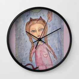Moonlight Clementine Wall Clock