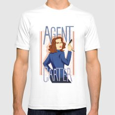 Agent Carter White SMALL Mens Fitted Tee